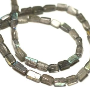 Shop Labradorite Bead Shapes! Wire 39cm 48-56pc env – Stone Pearls – Labradorite Rectangles 5-12mm | Natural genuine other-shape Labradorite beads for beading and jewelry making.  #jewelry #beads #beadedjewelry #diyjewelry #jewelrymaking #beadstore #beading #affiliate #ad