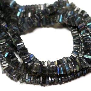 Shop Labradorite Bead Shapes! Wire 40cm 215pc env – stone beads – Labradorite square Heishi 3-4mm | Natural genuine other-shape Labradorite beads for beading and jewelry making.  #jewelry #beads #beadedjewelry #diyjewelry #jewelrymaking #beadstore #beading #affiliate #ad
