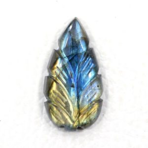 Shop Labradorite Shapes! Finest Quality Hand Made Carving Labradorite Gemstone 15*29 MM Pear Shape Labradorite Carving 33.60 Cts Healing Crystal Flat Back Carving | Natural genuine stones & crystals in various shapes & sizes. Buy raw cut, tumbled, or polished gemstones for making jewelry or crystal healing energy vibration raising reiki stones. #crystals #gemstones #crystalhealing #crystalsandgemstones #energyhealing #affiliate #ad
