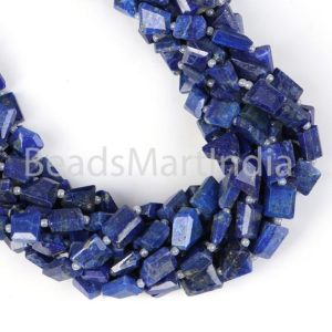 Shop Lapis Lazuli Chip & Nugget Beads! Lapis Lazuli Faceted Nugget Fancy Beads, Lapis Lazuli Nugget Beads, Lapis Lazuli Faceted Beads, Natural Lapis Beads, Lapis Lazuli Beads | Natural genuine chip Lapis Lazuli beads for beading and jewelry making.  #jewelry #beads #beadedjewelry #diyjewelry #jewelrymaking #beadstore #beading #affiliate #ad