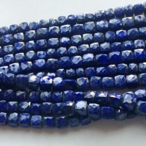 Shop Lapis Lazuli Bead Shapes! 8-9mm Lapis Lazuli Faceted Box Beads, Lapis Lazuli Cubes, Lapis Lazuli For Necklace, Lapis Lazuli Box Beads (4IN To 8IN Options) – GOD3102 | Natural genuine other-shape Lapis Lazuli beads for beading and jewelry making.  #jewelry #beads #beadedjewelry #diyjewelry #jewelrymaking #beadstore #beading #affiliate #ad