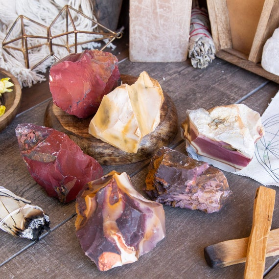 Large Natural Rough Mookaite  Stone - Over 1/2 Pound - Healing Crystals And Stones Raw Crystals And Minerals Chakra Stone