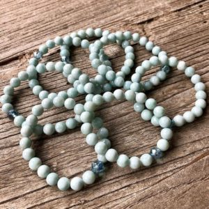 Shop Larimar Bracelets! LIMITED EDITION-Larimar and Aqua Aura Grounding Bracelet | Natural genuine Larimar bracelets. Buy crystal jewelry, handmade handcrafted artisan jewelry for women.  Unique handmade gift ideas. #jewelry #beadedbracelets #beadedjewelry #gift #shopping #handmadejewelry #fashion #style #product #bracelets #affiliate #ad