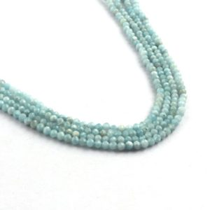 Shop Larimar Faceted Beads! Larimar Faceted Loose Gemstone Beads, Semi Precious Gemstone Beads Strand,  13 Inches Strand Beads Bracelet Making Jewelry Supply. CL-123 | Natural genuine faceted Larimar beads for beading and jewelry making.  #jewelry #beads #beadedjewelry #diyjewelry #jewelrymaking #beadstore #beading #affiliate #ad