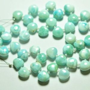Shop Larimar Bead Shapes! Natural Larimar Heart Beads 10mm  Rare Larimar Stone Semi Precious Gems Smooth Heart Gemstone Beads – 10 Pieces No3825 | Natural genuine other-shape Larimar beads for beading and jewelry making.  #jewelry #beads #beadedjewelry #diyjewelry #jewelrymaking #beadstore #beading #affiliate #ad