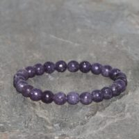 Purple Lepidolite Beaded Bracelet, 6mm Natural Lepidolite Beads, Grade Aa, Gemstone Bracelet, Lavender Violet Lepidolite, Gift Bracelet | Natural genuine Gemstone jewelry. Buy crystal jewelry, handmade handcrafted artisan jewelry for women.  Unique handmade gift ideas. #jewelry #beadedjewelry #beadedjewelry #gift #shopping #handmadejewelry #fashion #style #product #jewelry #affiliate #ad