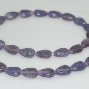 Shop Lepidolite Bead Shapes! 12X8mm Purple Lepidolite Gemstone Grade A Teardrop Loose Beads 15.5 inch Full Strand (90188353-670) | Natural genuine other-shape Lepidolite beads for beading and jewelry making.  #jewelry #beads #beadedjewelry #diyjewelry #jewelrymaking #beadstore #beading #affiliate #ad