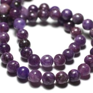Shop Lepidolite Bead Shapes! Wire 39cm Env – Beads Of Stone – Lepidolite 47pc Purple Balls 8 Mm | Natural genuine other-shape Lepidolite beads for beading and jewelry making.  #jewelry #beads #beadedjewelry #diyjewelry #jewelrymaking #beadstore #beading #affiliate #ad