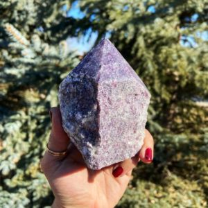"""Shop Lepidolite Points & Wands! Lepidolite point – The """"ultimate healer"""" – natural Lepidolite crystal   Natural genuine stones & crystals in various shapes & sizes. Buy raw cut, tumbled, or polished gemstones for making jewelry or crystal healing energy vibration raising reiki stones. #crystals #gemstones #crystalhealing #crystalsandgemstones #energyhealing #affiliate #ad"""