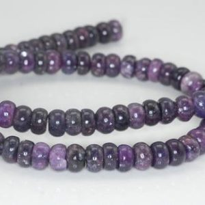 Shop Lepidolite Rondelle Beads! 8X5-8X4mm Purple Lepidolite Gemstone Grade AA Rondelle Beads 16 inch Full Strand BULK LOT 1,2,6,12 and 50 (90187998-673) | Natural genuine rondelle Lepidolite beads for beading and jewelry making.  #jewelry #beads #beadedjewelry #diyjewelry #jewelrymaking #beadstore #beading #affiliate #ad