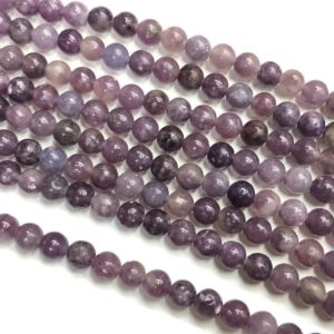 Shop Lepidolite Round Beads! Lepidolite Beads, Natural Gemstone Beads, Round Loose Beads For Jewelry Making 6mm 8mm 10mm | Natural genuine round Lepidolite beads for beading and jewelry making.  #jewelry #beads #beadedjewelry #diyjewelry #jewelrymaking #beadstore #beading #affiliate #ad