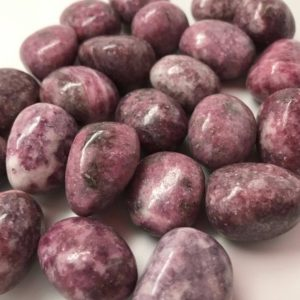 Shop Tumbled Lepidolite Crystals & Pocket Stones! Lepidolite Tumbled Stone #T7 | Natural genuine stones & crystals in various shapes & sizes. Buy raw cut, tumbled, or polished gemstones for making jewelry or crystal healing energy vibration raising reiki stones. #crystals #gemstones #crystalhealing #crystalsandgemstones #energyhealing #affiliate #ad