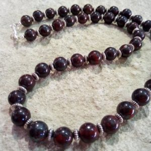 Shop Mahogany Obsidian Necklaces! Mahogany Obsidian chain 8 mm different. Lengths selectable #014 | Natural genuine Mahogany Obsidian necklaces. Buy crystal jewelry, handmade handcrafted artisan jewelry for women.  Unique handmade gift ideas. #jewelry #beadednecklaces #beadedjewelry #gift #shopping #handmadejewelry #fashion #style #product #necklaces #affiliate #ad