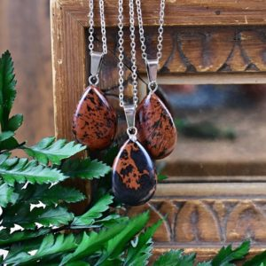 Shop Mahogany Obsidian Necklaces! Mahogany Obsidian Teardrop Necklace, Silver Gemstone Necklace, Layering Statement Necklace (EPJ-NW20AAA34) | Natural genuine Mahogany Obsidian necklaces. Buy crystal jewelry, handmade handcrafted artisan jewelry for women.  Unique handmade gift ideas. #jewelry #beadednecklaces #beadedjewelry #gift #shopping #handmadejewelry #fashion #style #product #necklaces #affiliate #ad