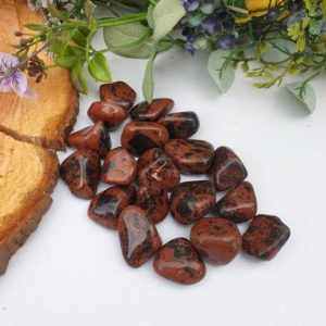 Shop Tumbled Obsidian Crystals & Pocket Stones! Mahogany Obsidian Crystal Tumble Stone | Natural genuine stones & crystals in various shapes & sizes. Buy raw cut, tumbled, or polished gemstones for making jewelry or crystal healing energy vibration raising reiki stones. #crystals #gemstones #crystalhealing #crystalsandgemstones #energyhealing #affiliate #ad