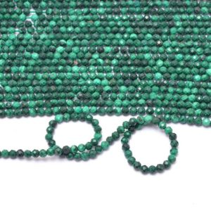 Shop Malachite Faceted Beads! Aaa+ Malachite Gemstone 3mm Faceted Beads | Natural Malachite Semi Precious Gemstone Loose Rondelle Beads For Jewelry Making | 13inch Strand | Natural genuine faceted Malachite beads for beading and jewelry making.  #jewelry #beads #beadedjewelry #diyjewelry #jewelrymaking #beadstore #beading #affiliate #ad