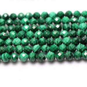 Shop Malachite Beads! Malachite Faceted Beads, Natural Gemstone Beads, Round Stone Beads 2mm 3mm 4mm 15'' | Natural genuine beads Malachite beads for beading and jewelry making.  #jewelry #beads #beadedjewelry #diyjewelry #jewelrymaking #beadstore #beading #affiliate #ad