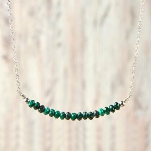 Shop Malachite Necklaces! Malachite Necklace May Birthstone Jewelry Idea For Gifts Minimalist Malachite Jewelry Heart Chakra Necklace Mothers day gift for mother | Natural genuine Malachite necklaces. Buy crystal jewelry, handmade handcrafted artisan jewelry for women.  Unique handmade gift ideas. #jewelry #beadednecklaces #beadedjewelry #gift #shopping #handmadejewelry #fashion #style #product #necklaces #affiliate #ad