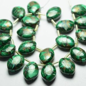 Shop Malachite Bead Shapes! 8 Pieces Natural Malachite Beads 10x14mm Smooth Marquise Briolettes Gemstone Beads Rare Copper Malachite Stone Semi Precious No4722   Natural genuine other-shape Malachite beads for beading and jewelry making.  #jewelry #beads #beadedjewelry #diyjewelry #jewelrymaking #beadstore #beading #affiliate #ad