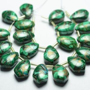Shop Malachite Bead Shapes! 8 Pieces Natural Malachite Beads 10x15mm Smooth Fancy Shape Briolettes Gemstone Beads Rare Copper Malachite Stone Semi Precious No4731   Natural genuine other-shape Malachite beads for beading and jewelry making.  #jewelry #beads #beadedjewelry #diyjewelry #jewelrymaking #beadstore #beading #affiliate #ad