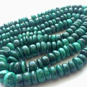 Shop Malachite Rondelle Beads! 5-9mm Malachite Plain Rondelle Beads, Natural Malachite Beads, Malachite Smooth Plain Rondelle For Jewelry (8IN To 16IN Options) – RAMA109   Natural genuine rondelle Malachite beads for beading and jewelry making.  #jewelry #beads #beadedjewelry #diyjewelry #jewelrymaking #beadstore #beading #affiliate #ad