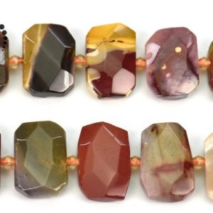"""Shop Mookaite Jasper Chip & Nugget Beads! Mookaite Faceted nugget beads,irregular bead,nugget bead,centre drilled bead,natural,gemstone,diy beads,15×22-24mm,15"""" full strand   Natural genuine chip Mookaite Jasper beads for beading and jewelry making.  #jewelry #beads #beadedjewelry #diyjewelry #jewelrymaking #beadstore #beading #affiliate #ad"""