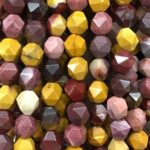 Shop Mookaite Jasper Faceted Beads! Mookaite Jasper Faceted Beads, Natural Gemstone Beads, Nugget Stone Beads 6mm 8mm 10mm 15'' | Natural genuine faceted Mookaite Jasper beads for beading and jewelry making.  #jewelry #beads #beadedjewelry #diyjewelry #jewelrymaking #beadstore #beading #affiliate #ad