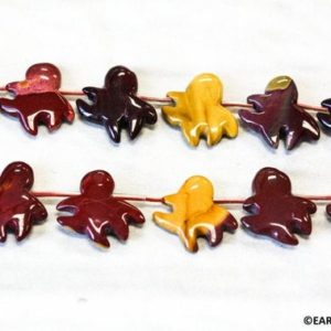 Shop Mookaite Jasper Bead Shapes! XL/ Cute Genuine Mookaite 25x20mm Octopus Loose Beads Length about 15.5 inches Natural color not dyed Nice special cutting   Natural genuine other-shape Mookaite Jasper beads for beading and jewelry making.  #jewelry #beads #beadedjewelry #diyjewelry #jewelrymaking #beadstore #beading #affiliate #ad