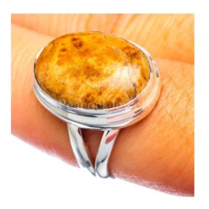 Shop Mookaite Jasper Rings! Mookaite Jasper Ring, Mookaite Gemstone, Sterling Silver Ring, Yellow Stone Ring, Oval Ring, Handmade Ring, Split Band Ring, Jasper Jewelry | Natural genuine Mookaite Jasper rings, simple unique handcrafted gemstone rings. #rings #jewelry #shopping #gift #handmade #fashion #style #affiliate #ad