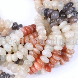 Shop Moonstone Rondelle Beads! Multi Moonstone Beads, Multi Color Moonstone Beads, Moonstone Smooth Beads, Multi Moonstone Rondelle Beads,Moonstone Rondelle Smooth Beads | Natural genuine rondelle Moonstone beads for beading and jewelry making.  #jewelry #beads #beadedjewelry #diyjewelry #jewelrymaking #beadstore #beading #affiliate #ad