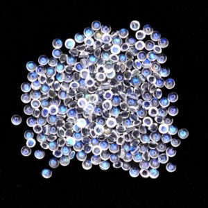 Shop Moonstone Round Beads! AAA White Rainbow Blue Fire Moonstone 1.5mm – 2.5mm Round Cabochon | Flashy Bluish Shimmer Natural Gemstone Cabochon | Wholesale Cabs Lot | | Natural genuine round Moonstone beads for beading and jewelry making.  #jewelry #beads #beadedjewelry #diyjewelry #jewelrymaking #beadstore #beading #affiliate #ad