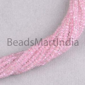 Shop Morganite Faceted Beads! Morganite Faceted Rondelle Shape Beads,Pink Morganite Rondelle(2-3mm) Beads,Morganite Faceted Beads,Morganite Beads,Morganite Natural Beads | Natural genuine faceted Morganite beads for beading and jewelry making.  #jewelry #beads #beadedjewelry #diyjewelry #jewelrymaking #beadstore #beading #affiliate #ad