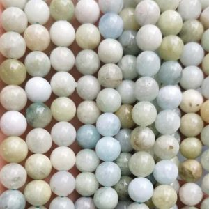 """Shop Morganite Round Beads! Natural Green Morganite Gemstone Smooth Round Beads,6mm 8mm 10mm Morganite Beads Wholesale Supply,one strand 15"""" 