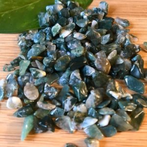 Shop Moss Agate Stones & Crystals! Moss Agate Tumbled Chips Gift Bag jewelry making crafts crafting roller ball bottle   Natural genuine stones & crystals in various shapes & sizes. Buy raw cut, tumbled, or polished gemstones for making jewelry or crystal healing energy vibration raising reiki stones. #crystals #gemstones #crystalhealing #crystalsandgemstones #energyhealing #affiliate #ad