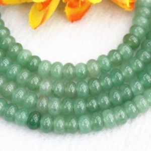 "Shop Aventurine Beads! Natura Green Aventurine Rondelle beads 4x6mm 5x8mm Green Aventurine beads wholesale,beads supply 15"" strand 