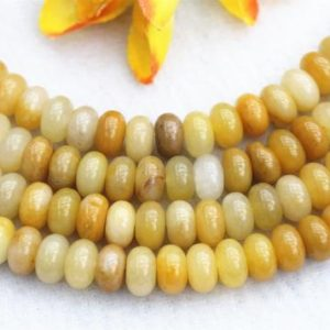 "Natura yellow Aventurine Rondelle beads 4x6mm 5x8mm yellow Aventurine beads wholesale,Aventurine beads supply 15"" strand 