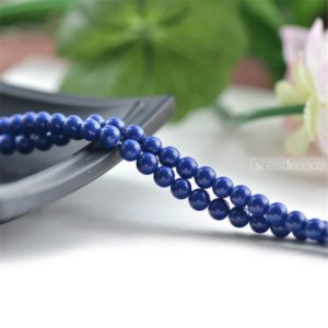 Natural Azurite Beads Pure Royal Blue Beads 4mm-10mm Smooth Polished Round 15 Inch Strand LL33 | Natural genuine beads Array beads for beading and jewelry making.  #jewelry #beads #beadedjewelry #diyjewelry #jewelrymaking #beadstore #beading #affiliate #ad