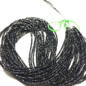 Shop Black Diamond Beads! 20.00 Carat Natural Polished Black Diamond,  Black Diamond Faceted Rondelle Beads, Roundelle Black Diamond,2.00-3.50 MM | Natural genuine beads Diamond beads for beading and jewelry making.  #jewelry #beads #beadedjewelry #diyjewelry #jewelrymaking #beadstore #beading #affiliate #ad