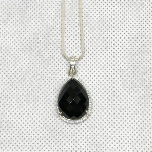 Shop Spinel Pendants! Natural Black Spinel Pendant, Engagement Pendent, Silver Spinel Pendent, Woman Pendant, Pendant Necklace, Luxury Pendent, Pear Stone Pendent | Natural genuine Spinel pendants. Buy handcrafted artisan wedding jewelry.  Unique handmade bridal jewelry gift ideas. #jewelry #beadedpendants #gift #crystaljewelry #shopping #handmadejewelry #wedding #bridal #pendants #affiliate #ad