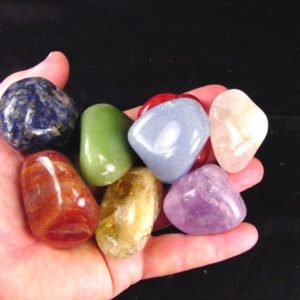 Shop Chakra Stone Sets! Natural Chakra Gemtones 7+ quartz, abalone shell, velvet bag, healing stone chart 6501K | Shop jewelry making and beading supplies, tools & findings for DIY jewelry making and crafts. #jewelrymaking #diyjewelry #jewelrycrafts #jewelrysupplies #beading #affiliate #ad