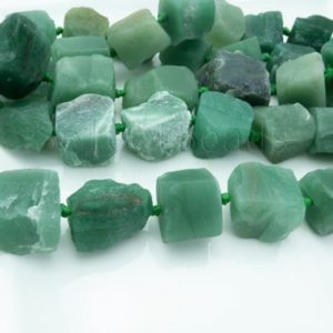 Shop Aventurine Beads! natural green aventurine raw nugget beads – chunky stone necklace beads – green gemstone beads – rough nugget beads -15inch | Natural genuine beads Aventurine beads for beading and jewelry making.  #jewelry #beads #beadedjewelry #diyjewelry #jewelrymaking #beadstore #beading #affiliate #ad
