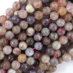 """Shop Pink Tourmaline Round Beads! Natural Light Purple Pink Tourmaline Round Beads 15.5"""" Strand 4mm 6mm 8mm 10mm 