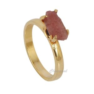 Shop Pink Tourmaline Rings! Natural Pink Tourmaline Raw Rough Loose Gemstone Ring, Gold Plated 925 Sterling Silver Crystal Healing Tourmaline Stone Ring | Natural genuine Pink Tourmaline rings, simple unique handcrafted gemstone rings. #rings #jewelry #shopping #gift #handmade #fashion #style #affiliate #ad