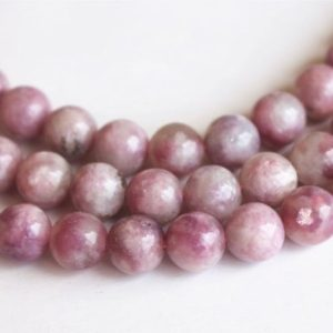 Shop Pink Tourmaline Round Beads! Natural Pink Tourmaline Smooth Round Beads,6mm 8mm 10mm ,15 inches per Strands | Natural genuine round Pink Tourmaline beads for beading and jewelry making.  #jewelry #beads #beadedjewelry #diyjewelry #jewelrymaking #beadstore #beading #affiliate #ad
