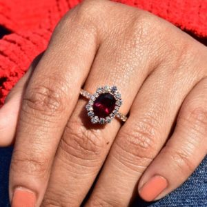 Natural Rhodolite Garnet engagement Ring, garnet rose gold ring, Pinkish Garnet Ring , Garnet Jewelry, garnet Oval cut ring, gift for her | Natural genuine Array rings, simple unique alternative gemstone engagement rings. #rings #jewelry #bridal #wedding #jewelryaccessories #engagementrings #weddingideas #affiliate #ad