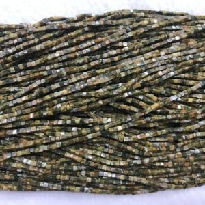 Shop Rainforest Jasper Beads! Natural Rhyolite Jasper 2x2mm Cube Genuine Green Gemstone Loose Beads 15inch Jewelry Supply Bracelet Necklace Material Support Wholesale | Natural genuine other-shape Rainforest Jasper beads for beading and jewelry making.  #jewelry #beads #beadedjewelry #diyjewelry #jewelrymaking #beadstore #beading #affiliate #ad
