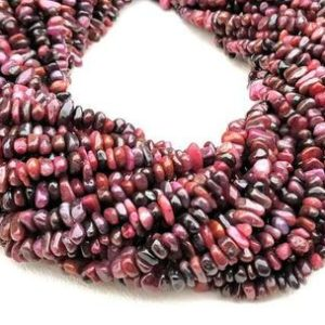 """Shop Ruby Rondelle Beads! Natural Ruby Smooth Uncut Chips,34"""" Strand,AAA Quality Ruby Smooth Raw Beads  Natural Ruby Beads  Ruby Uncut Beads  Ruby Chips and Nuggets 