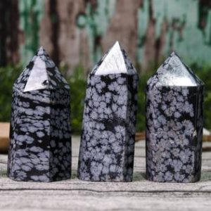 Shop Snowflake Obsidian Stones & Crystals! Natural Snowflake Obsidian Crystal Tower, obsidian Quartz Point, healing Crystal Tower, obsidian Crystal Tower, Gemstone Wand Obelisk Crystal | Natural genuine stones & crystals in various shapes & sizes. Buy raw cut, tumbled, or polished gemstones for making jewelry or crystal healing energy vibration raising reiki stones. #crystals #gemstones #crystalhealing #crystalsandgemstones #energyhealing #affiliate #ad