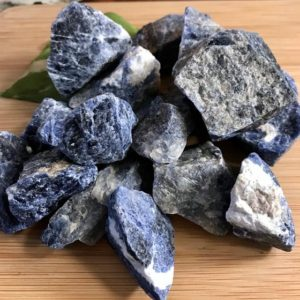 Shop Raw & Rough Sodalite Stones! Natural Sodalite raw Stones with Gift Bag and Note | Natural genuine stones & crystals in various shapes & sizes. Buy raw cut, tumbled, or polished gemstones for making jewelry or crystal healing energy vibration raising reiki stones. #crystals #gemstones #crystalhealing #crystalsandgemstones #energyhealing #affiliate #ad