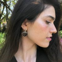 Obsidian Earrings, Natural Obsidian, Dark Vintage Earrings, Statement Earrings, Artistic Earrings, Antique Earrings, Solid Silver Earrings | Natural genuine Gemstone jewelry. Buy crystal jewelry, handmade handcrafted artisan jewelry for women.  Unique handmade gift ideas. #jewelry #beadedjewelry #beadedjewelry #gift #shopping #handmadejewelry #fashion #style #product #jewelry #affiliate #ad